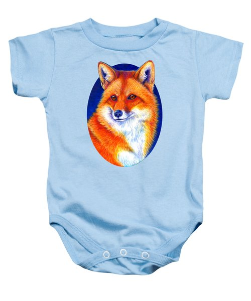 Colorful Red Fox Baby Onesie