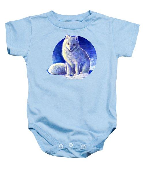 Peaceful Winter Arctic Fox Baby Onesie
