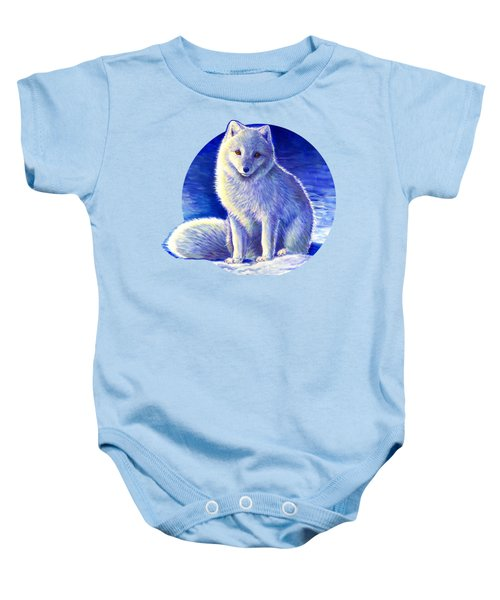 Colorful Winter Arctic Fox Baby Onesie