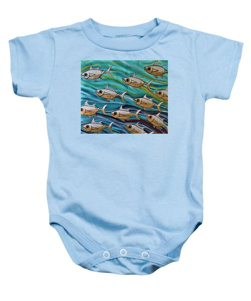 Coloured Water Fish Baby Onesie