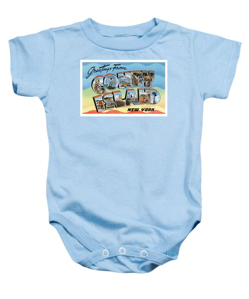 Coney Island Greetings - Version 2 Baby Onesie