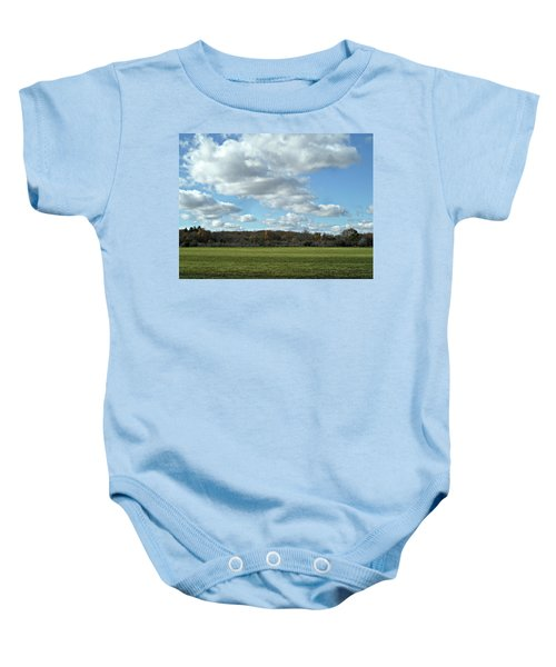 Country Autumn Curves 6 Baby Onesie