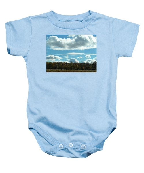 Country Autumn Curves 8 Baby Onesie
