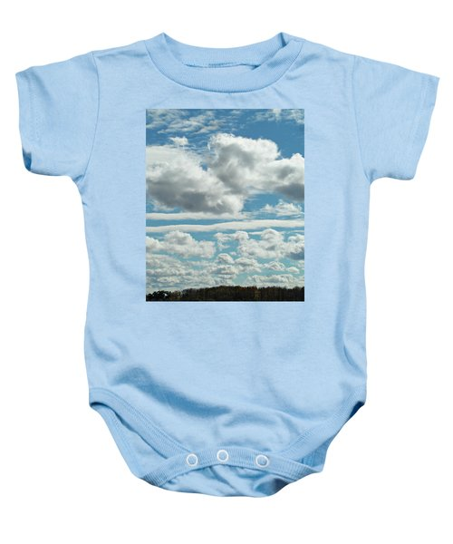 Country Autumn Curves Baby Onesie
