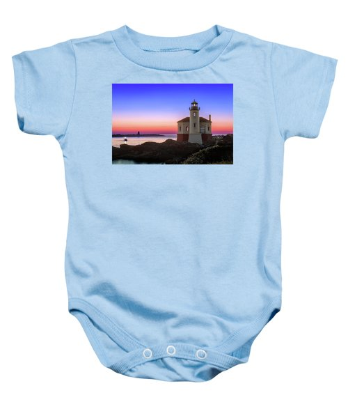 Crab Boat At The Bandon Lighthouse Baby Onesie