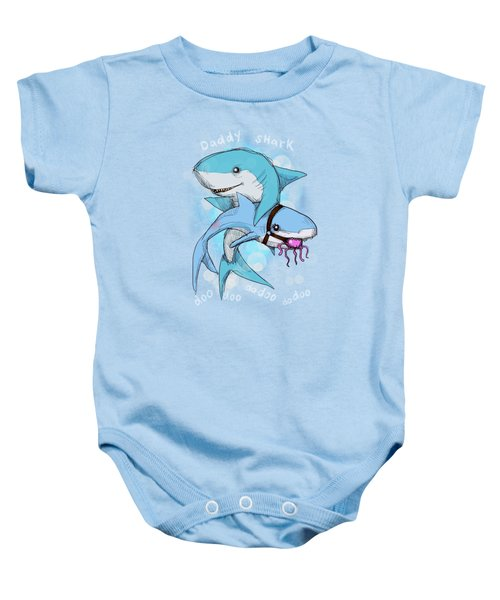 Daddy Shark Baby Onesie