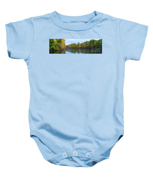 Davidson's Mill Pond Autumn Panorama  Baby Onesie