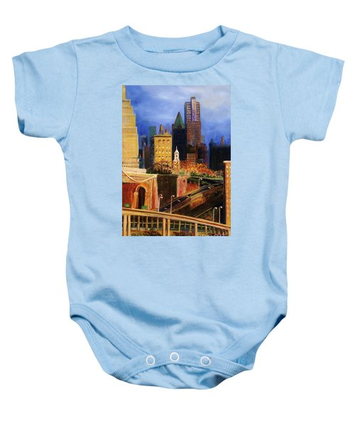 Dawn At City Hall Baby Onesie