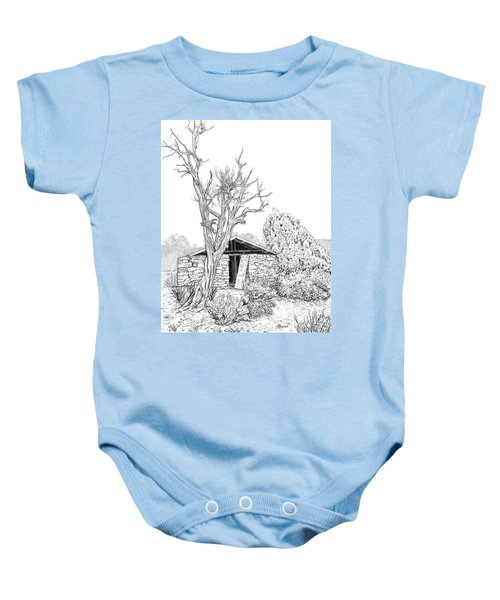 Decay Of Calamity The Half Life Of A Dream Black And White  Baby Onesie