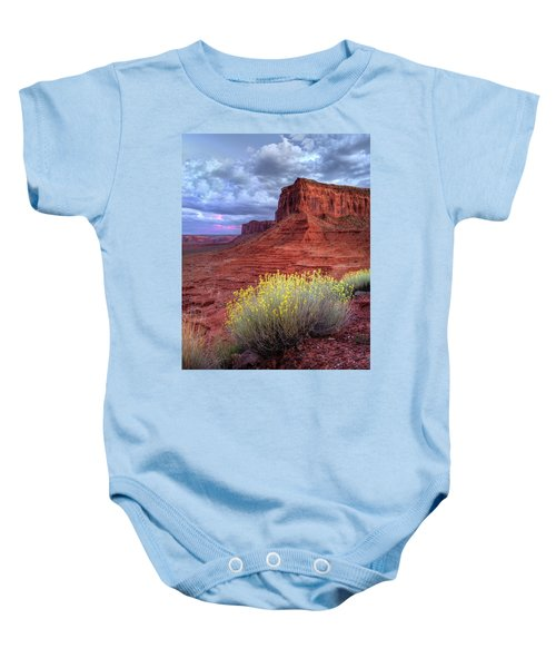 Desert Bouquets On A Stormy Eve Baby Onesie