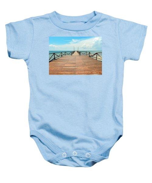Dock To Infinity Baby Onesie