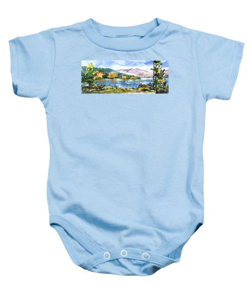 Donner Lake Fisherman Baby Onesie