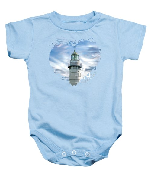 Door County Cana Island Beacon Baby Onesie