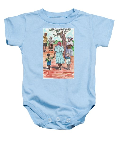 Down The Red Road And Past The Magnolia Tree Baby Onesie