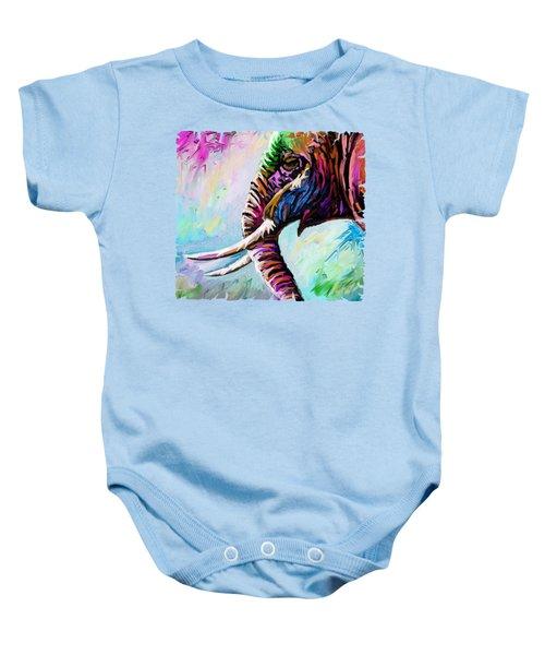 Elephant Profile Baby Onesie