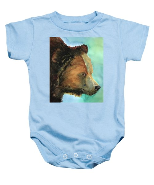 Face To Face Bear Baby Onesie