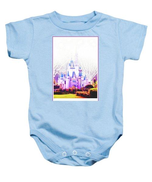 Fireworks, Cinderella's Castle, Magic Kingdom, Walt Disney World Baby Onesie