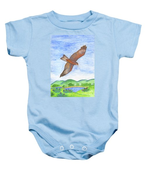 Flying Hawk Baby Onesie