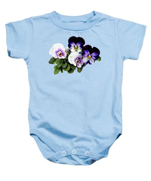 Four Pansies Baby Onesie