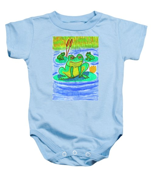 Funny Frogs Baby Onesie