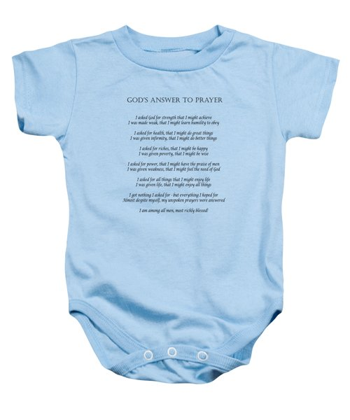 God's Answer To Prayer Baby Onesie