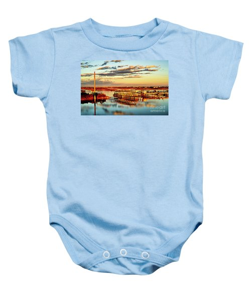 Golden Hour Bridge Baby Onesie