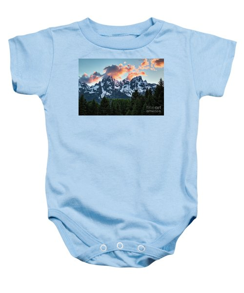 Baby Onesie featuring the photograph Grand Sunset by Vincent Bonafede