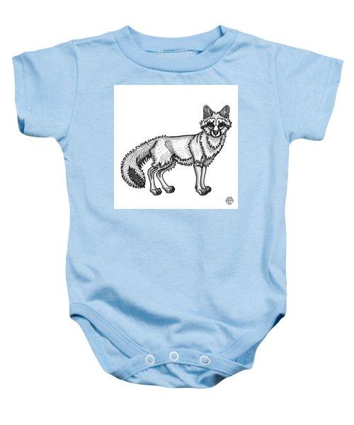 Gray Fox Baby Onesie