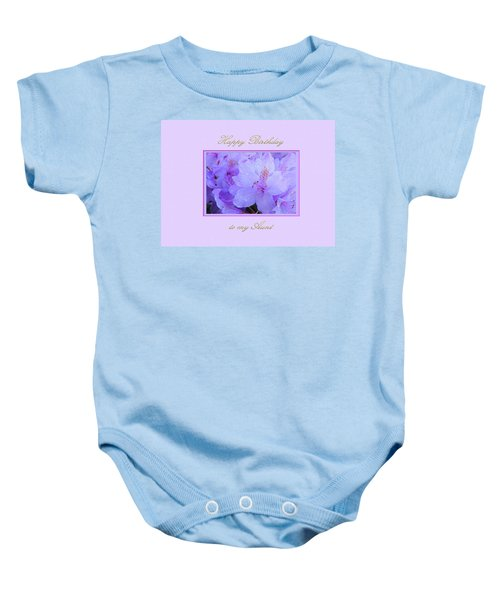 Happy Birthday To My Aunt Purple With Hydrangeas Baby Onesie