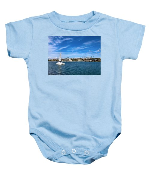Harbor Sailing Baby Onesie