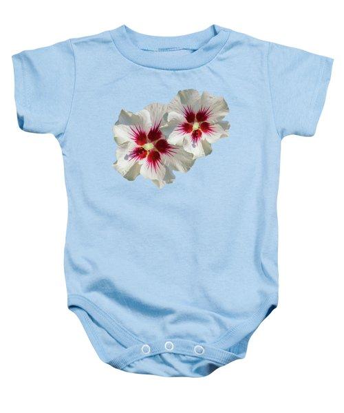 Hibiscus Flower Pattern Baby Onesie