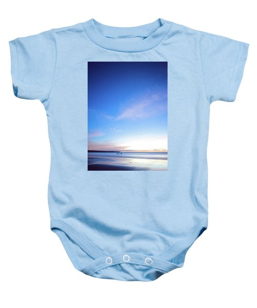 Horses Play In The Surf At Twilight Baby Onesie