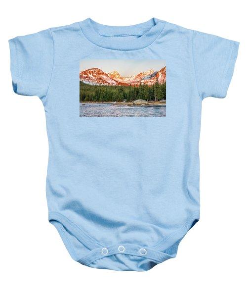 Indian Peaks Sunrise Baby Onesie