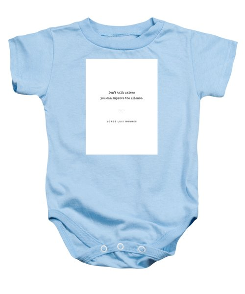 Jorge Luis Borges Quote 04 - Typewriter Quote - Minimal, Modern, Classy, Sophisticated Art Prints Baby Onesie