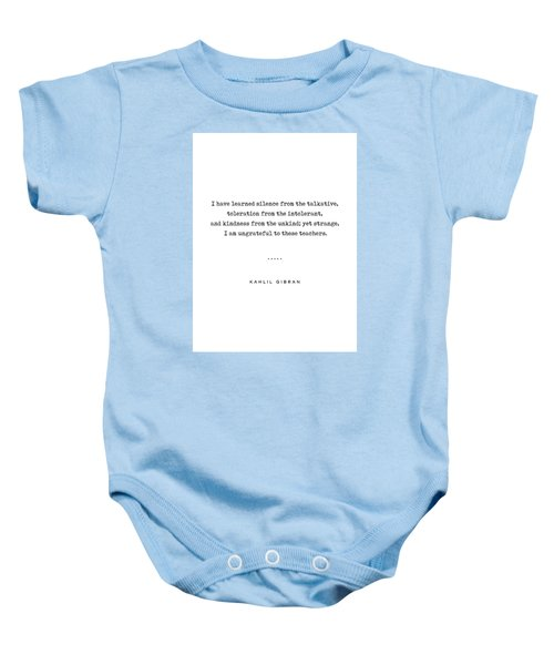 Kahlil Gibran Quote 02 - Typewriter Quote - Minimal, Modern, Classy, Sophisticated Art Prints Baby Onesie