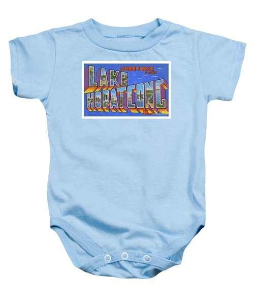 Lake Hopatcong Greetings Baby Onesie