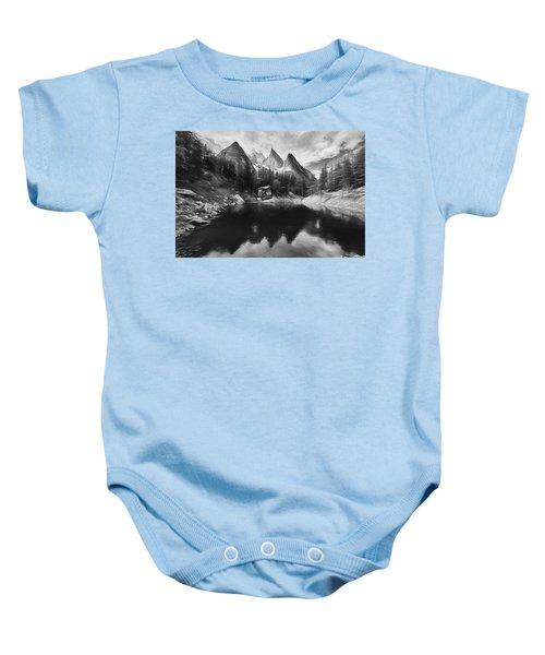 Lake Verde In The Alps IIi Baby Onesie