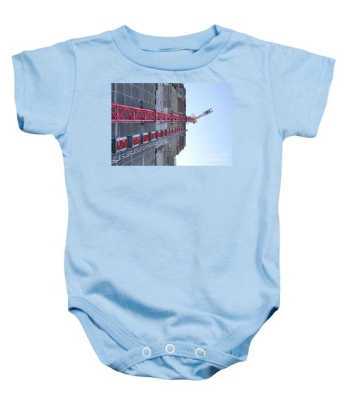 Large Scale Construction Site With Crane Baby Onesie