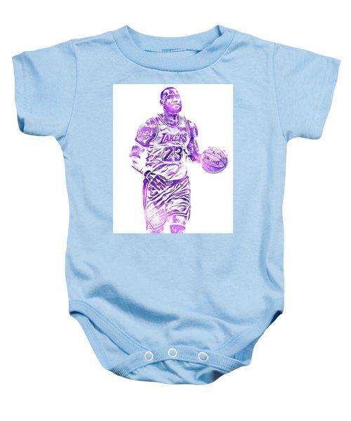 f0f535edb4e3 Lebron James Los Angeles Lakers Water Color Pixel Art 31 Baby Onesie
