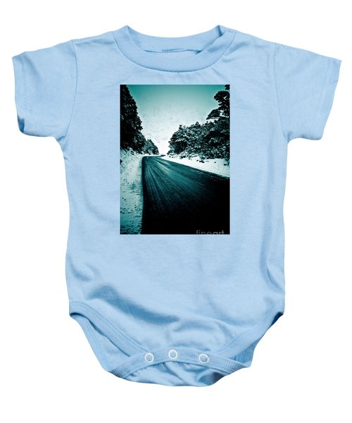 Lonely Road In The Countryside For A Car Trip And Disconnect From Stress Baby Onesie