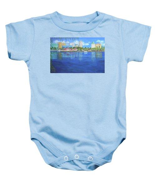 Long Beach Shoreline Baby Onesie
