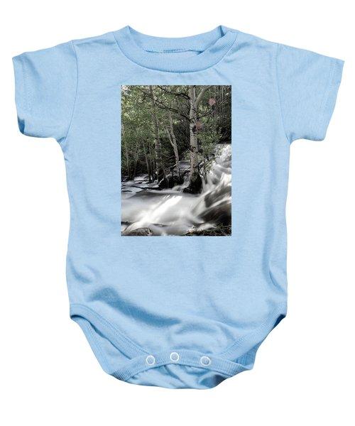 Long Exposure Shot Of A Mountain Stream Baby Onesie