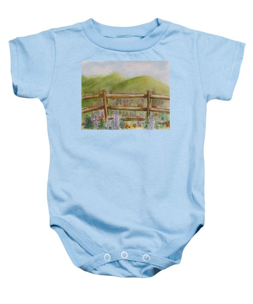 Lupines With A Side Of Poppies Baby Onesie