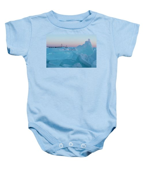 Mackinac Bridge In Ice 2161805 Baby Onesie