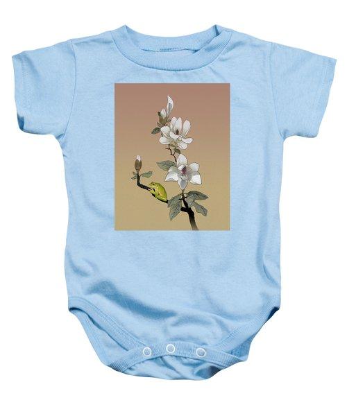 Magnolia And Tree Frog Baby Onesie