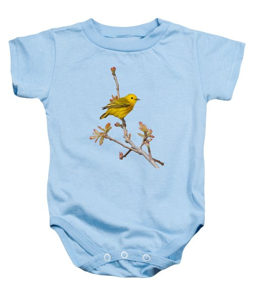 Male Yellow Warbler In Spring Baby Onesie