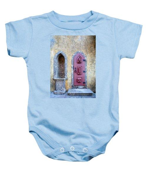 Medieval Red Door Baby Onesie