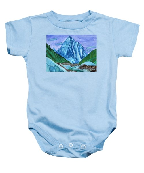 Snow Peak Above The Clouds Baby Onesie
