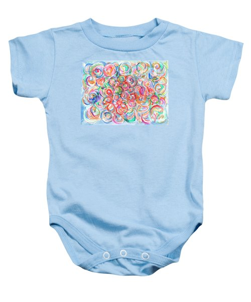 Multicolor Bubbles Baby Onesie