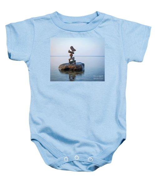 Zen Stack #9 Baby Onesie